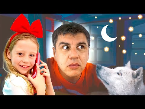 Nastya and Dad in good home stories for kids
