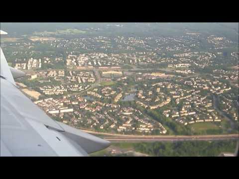 Landing at Washington Dulles (IAD) International Airport USA: IcelandAir Boeing 757-200