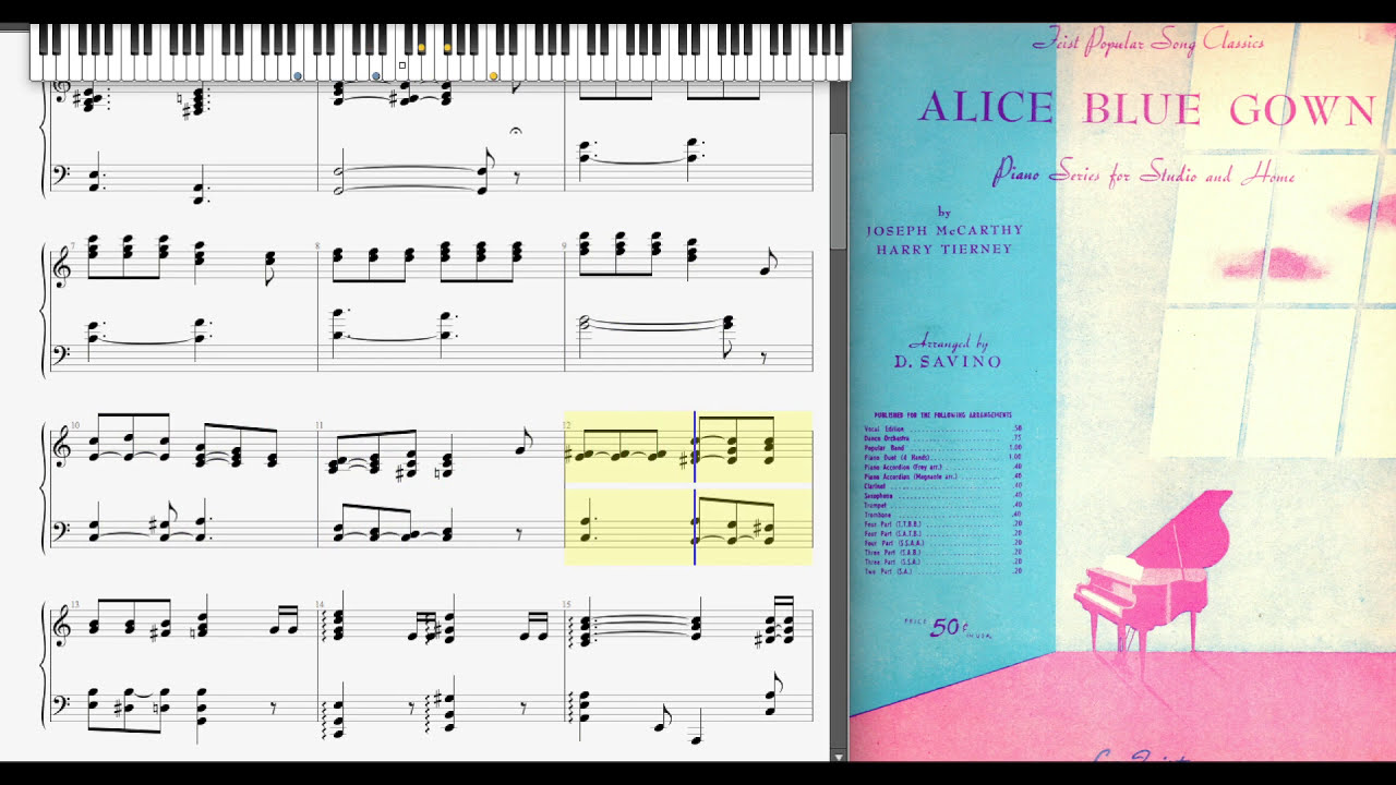 Alice Blue Gown by Harry Tierney & Joseph McCarthy, 1919 - YouTube