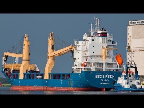 Tin Ziren BBC Birte H Chartering Heavy Lift Ship Crane 500 Tons Air Liquide ArcelorMittal