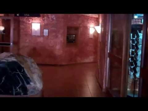 Entering the underground world of the Desert Cave Hotel