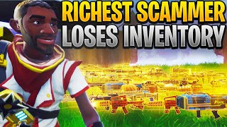 The Richest Scammer Loses Whole Inventory! (Scammer Gets Scammed) Fortnite Save The World