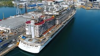 The MSC Seaside is the largest cruise ship built in Italy ( Fincant...