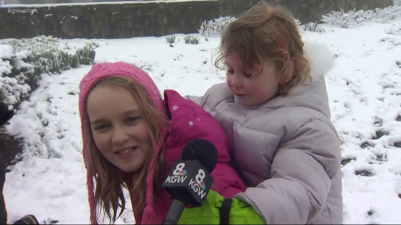 Kids and families enjoy blast of winter weather