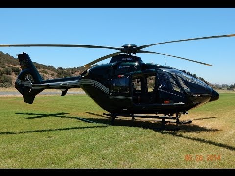 GoPro Flight in Executive Eurocopter EC135 N367W at Agua Dulce Airport 2014