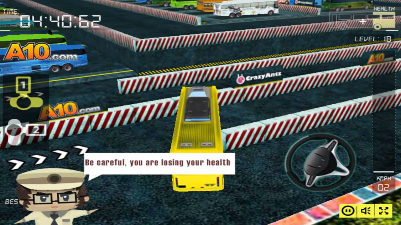 bus man 3d In the busman parking 3d 2 game, you have to move your bus and then park in the defined parking lot don't crash, use spacebar for the brake.