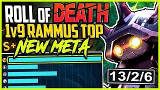 ROLL OF DEATHHH | 1v9 TOP LANE RAMMUS NEW META BUILD | Rammus vs Yasuo S8 Unranked to Challenger #01