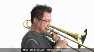 Our Guest Artist #11 Mikio Nitta, the trombonist - at Prima Gakki Showroom