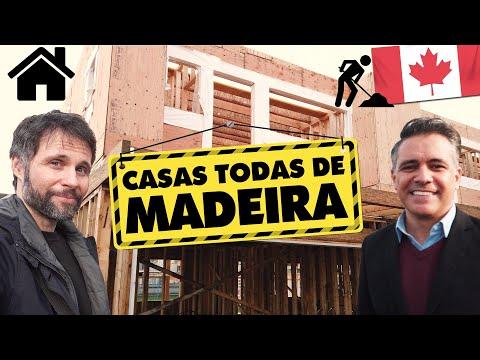 Construção de Casas de Madeira no Canadá - Como é? Coisas diferentes nas casas no Canadá