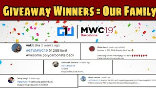 GTU MWC 2019 AMAZON VOUCHERS WINNER// Our Family Winners