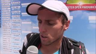 Uladzimir Ignatik po výhře ve druhém kole na turnaji Futures v Pardubicích