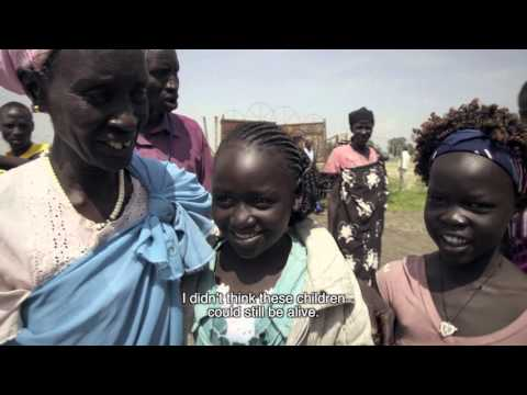 Tears of joy as children reunited with their parents in South Sudan
