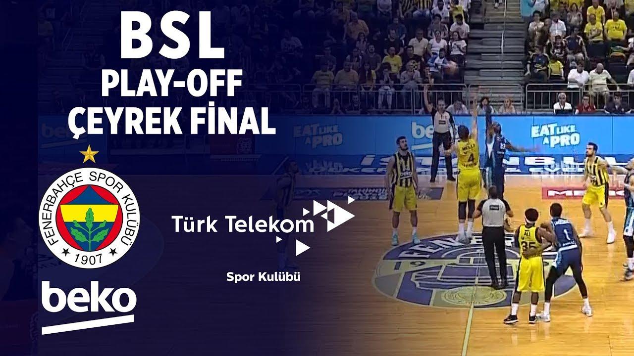 BSL Play-Off Çeyrek Final 3. Maç Özeti | Fenerbahçe Beko 92-59 Türk Telekom