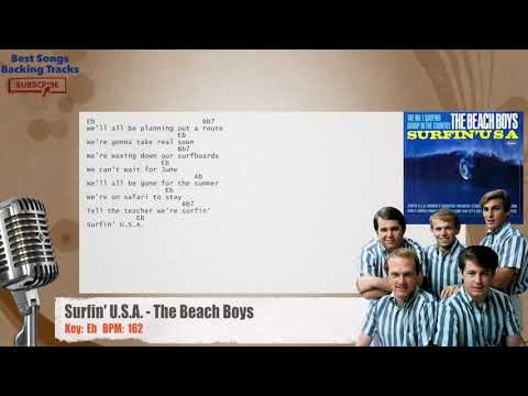 Surfin' U.S.A. - The Beach Boys Vocal Backing Track with chords and lyrics