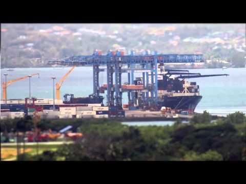 Time-Lapse Tilt-Shift Port de Fort-de-France, Martinique