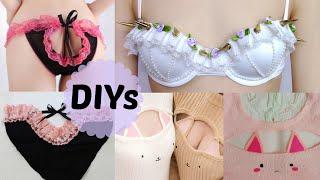 Repeat youtube video 3 Cute&Sexy DIYs: DIY Pastel Gothic Spiked Bra +DIY Cut out Panties + DIY Cat Keyhole Sweater