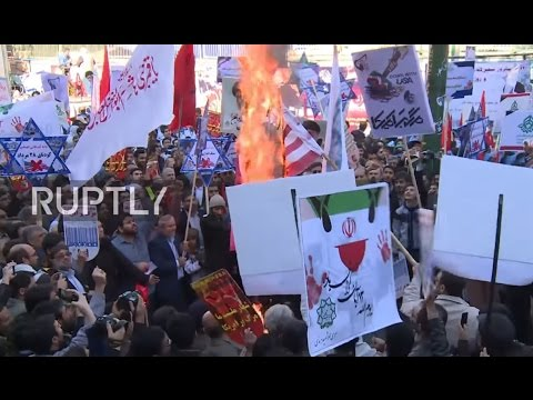 Iran: US flags burn as Tehran students mark 1979 US Embassy takeover