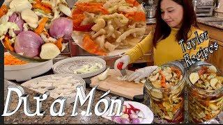 Dưa Món - Hướng dẫn cách sấy rau củ để làm dưa món cho ngày tết - Dehydrated veggies in fish sauce