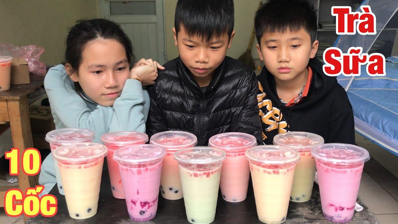 Tuấn Cuốn – Thử Thách Uống Hết 10 Cốc Trà Sữa Trân Châu Nhận Tiền Thưởng
