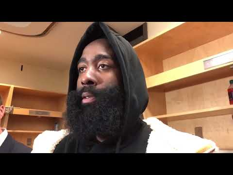 James Harden Postgame Interview / Rockets vs Raptors