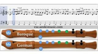 Как играть на блокфлейте Все зависит от Бога и немного от нас ноты для блокфлейты zan.urokimusic.com