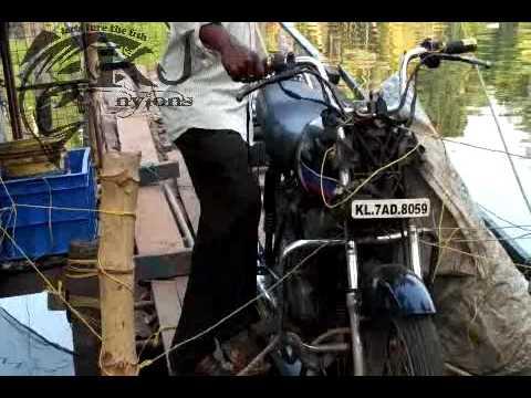 Chinese fishing net automatically working with bike