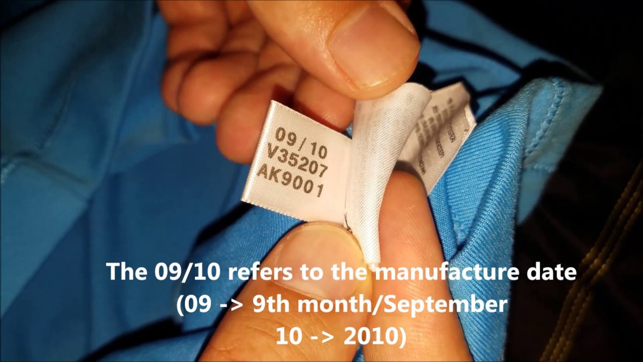 8b7664ddd2d How to spot original Adidas T-shirts manufacture date - YouTube