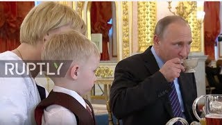 Russia: 'Don't cry! Everything is fine' - Putin awards parents with Orders of Parental Glory