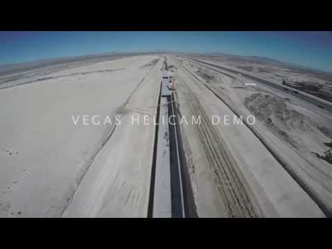 Regional Flood Control Project in N Las Vegas HD Aerial Video