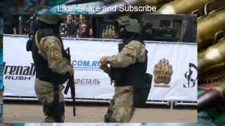 Russian soldiers square dancing