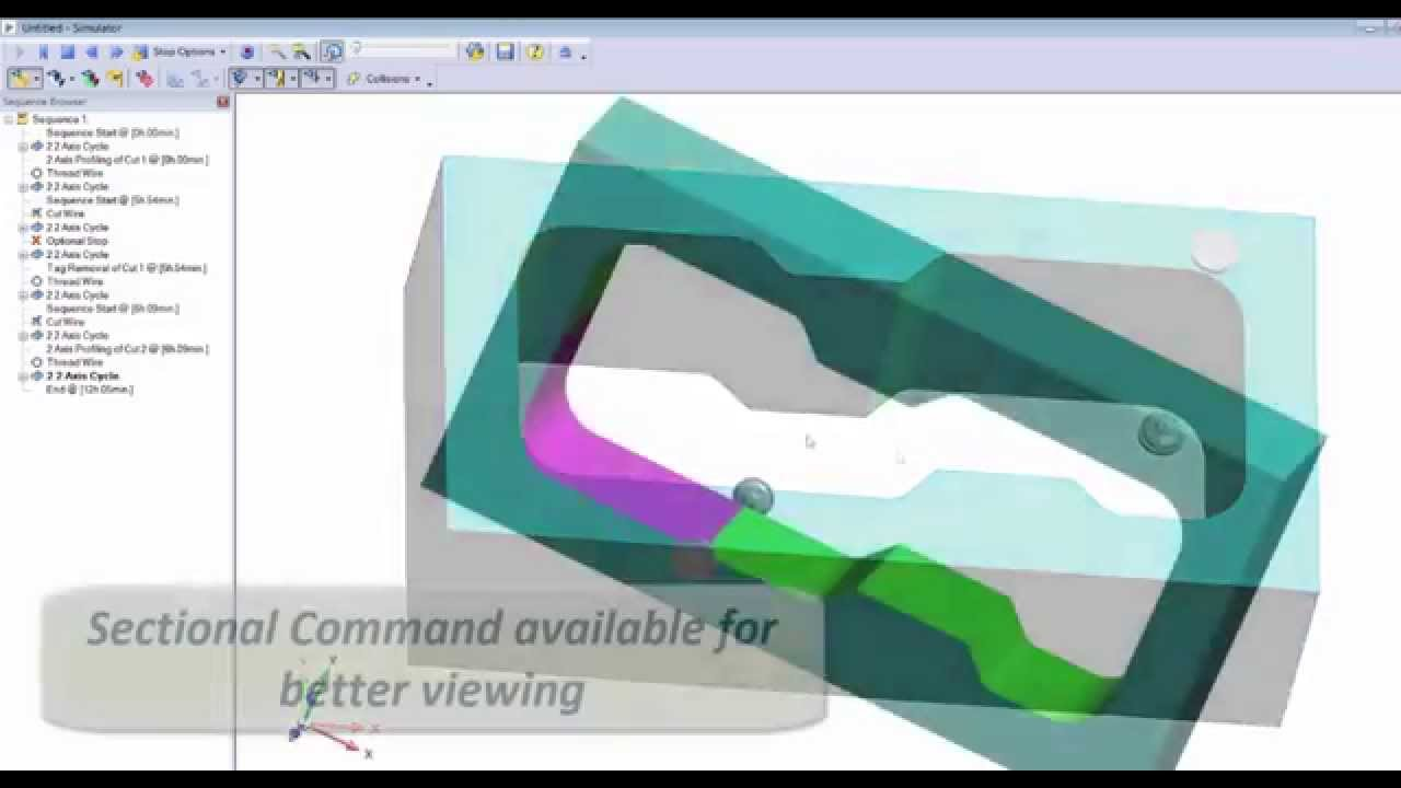 Workflow for Wire EDM - Edgecam 2015 R1 - YouTube