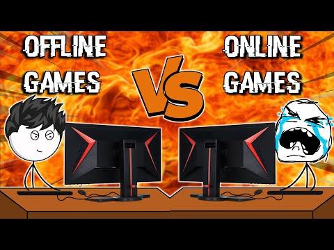 Offline Games VS Online Games