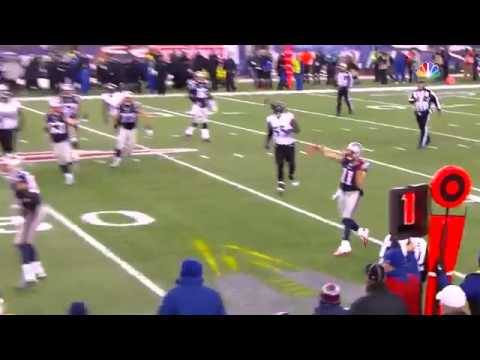 Edelman touchdown pass to Amendola 2015 NFL Playoffs