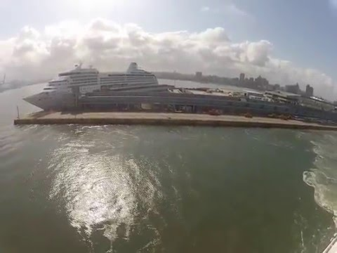MSC Sinfonia leaving Durban Out Harbor onto High Sea