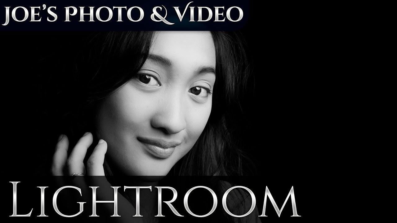 Low key high contrast black white portrait retouching lightroom 6 cc tutorial