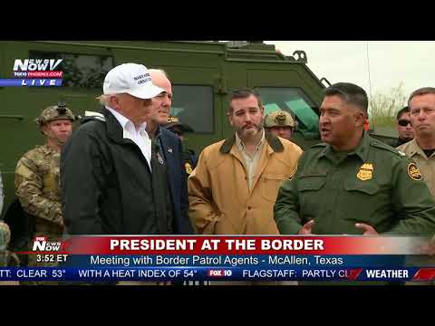 BREAKING: President Trump Receives Illegal Immigration Update From Border Patrol Agent