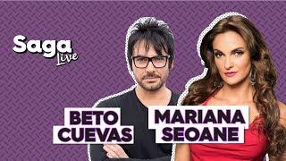 #SagaLive Mariana Seoane y Beto Cuevas con Adela Micha