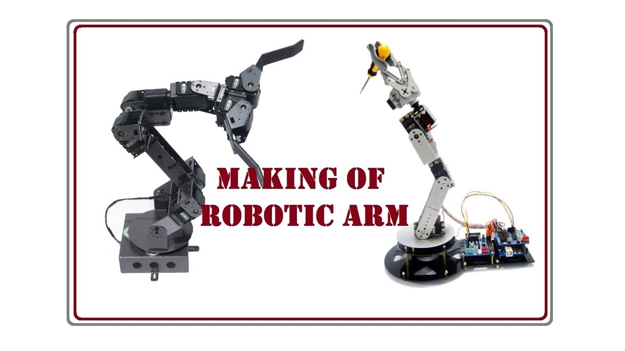 Making of robotic arm using arduino and servo motors youtube