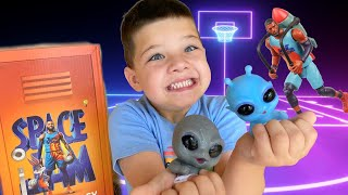 SPaCE JaM A NEW LEGACY! Caleb OPENS new SPACE JAM TOYS, CEREAL, & CANDY from ALIEN FRIENDS!
