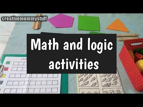 DIY math and logic activities for kindergarten and preschoolers