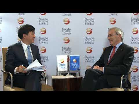 [2017 Shanghai Forum] Christopher Pissarides Interview - 2010 Nobel Laureate in Economics