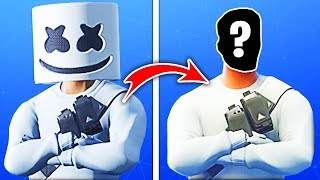 15 Fortnite Skins WITHOUT MASKE! (Marshmello)