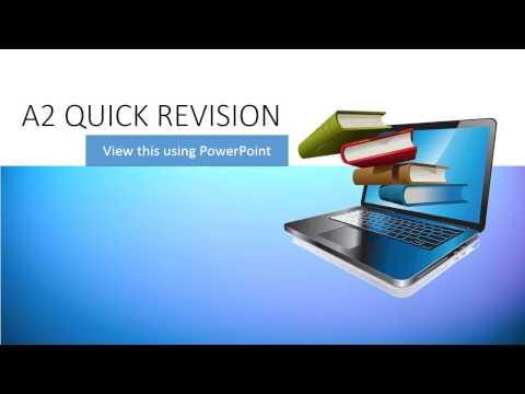 INFO3 AQA A2 ICT QUICK REVISION