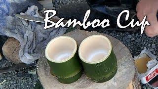 竹の湯呑みを作る Make Cheap Bamboo Cup Japanese Kuksa