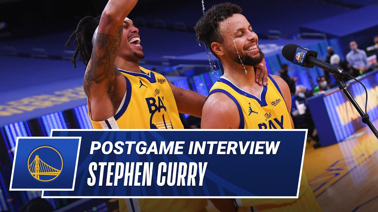 """The Best Guys Bring The Best Out In You"" - Stephen Curry On His Career Night Postgame"