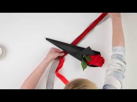 HOW TO: Make a single Valentine's rose... With a pair of socks