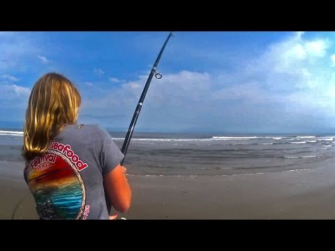 Surf Fishing For Striped Bass And Drum Near Chincoteague Virginia