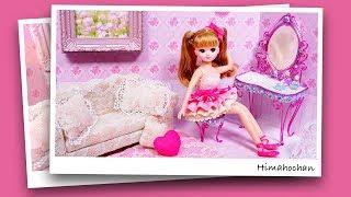 リカちゃん ドレッサーとお洋服をDIY♥グルーガンや粘土で手作りして可愛い写真を撮ろう🌼おもちゃ 人形 アニメ