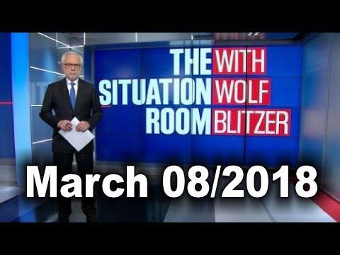 CNN Live NEWS | WOLF BLITZER (March 8/2018) Latest News | President Trump