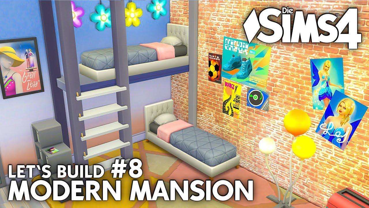 Zwillinge Kinderzimmer Die Sims 4 Haus Bauen Modern Mansion 8